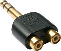 Adapter AV LINDY Lindy 35623 Przejściówka 2xRCA - duży jack 6,35mm