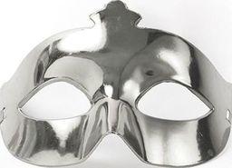 Party Deco Maska imprezowa, karnawał, srebrna uniwersalny