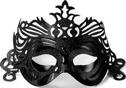 Party Deco Maska imprezowa, ornament, czarna uniwersalny