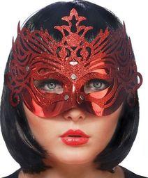 Party Deco Maska imprezowa, ornament, czerwona uniwersalny