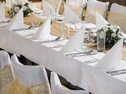 Party Deco Obrus, biały, 180x300 cm uniwersalny