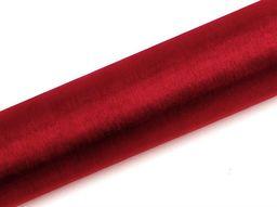 Party Deco Organza Gładka, czerwona, 0,16x9 m uniwersalny