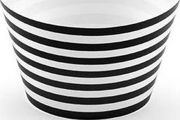 Party Deco Papilotki na muffinki, czarno-białe, 4,8x7,6x5cm, 6 szt. uniwersalny