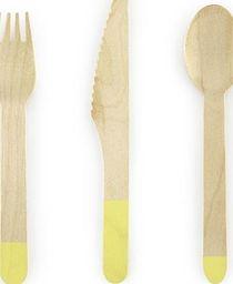 Party Deco Sztućce drewniane, słomkowe, 16cm, 18 szt. uniwersalny