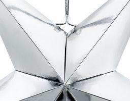 Party Deco Gwiazda papierowa świąteczna, srebrna, 70cm uniwersalny