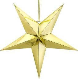 Party Deco Gwiazda papierowa świąteczna, złota, 70cm uniwersalny