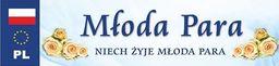 Party Deco Tablica rejestracyjna ślubna, Młoda Para, 50x11,5 cm uniwersalny