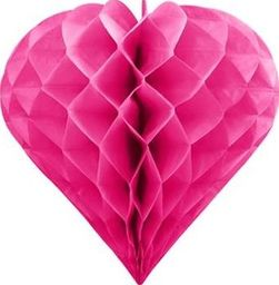 Serce bibułowe, ciemny różowy, 20cm uniwersalny