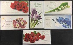Stamp Karnet Flowers DL + koperta mix wzorów