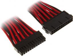 BitFenix Przedłużacz 24-Pin ATX 30cm - czarno czerwony ( BFA-MSC-24ATX45RKK-RP )