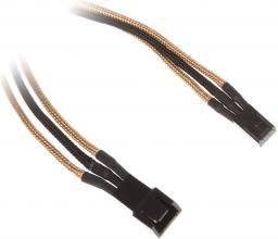 BitFenix Przedłużacz 3-Pin 60cm - złoto czarny (BFA-MSC-3F60AKK-CK)