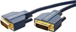 Kabel Clicktronic DVI-D - DVI-D 5m niebieski