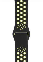 Apple Pasek sportowy Nike w kolorze czarnym/jaskrawym zielonożółtym do koperty 44 mm - S/M i M/L-MTMW2ZM/A