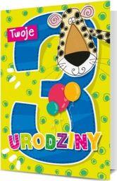 """PAN DRAGON KARNET B6 """"Twoje 3 Urodziny"""""""