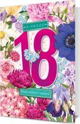 PAN DRAGON Karnet B6 18 Urodziny kwiaty K.B6-1713