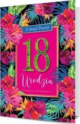 PAN DRAGON Karnet B6 18 urodziny kwiaty egzotyczne K.B6-1711