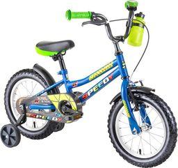 """DHS Rower dla dzieci DHS Speedy 1401 14"""" - model 2019 Kolor Niebieski"""