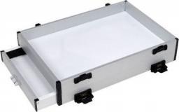 VDR Team Kaseta aluminiowa z boczną szufladą Srebna