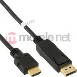 Kabel InLine DisplayPort HDMI, 2, Czarny (17182)