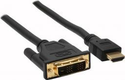 Kabel InLine DVI-D HDMI, 2, Czarny (17662P)