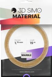 3DSimo Filament MARBLE - złoty 15m