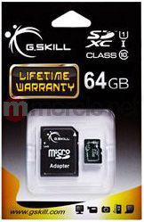 Karta G.Skill MicroSDXC 64GB Class 10 + adapter (FF-TSDXC64GA-U1)