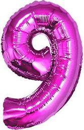 """GoDan Balon foliowy """"cyfra 9"""" - RÓŻOWA   (35cm)"""