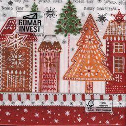 GOMAR Serwetki Lunch 33x33 Gingerbread road