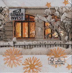GOMAR Serwetki Lunch 33x33 Warm light