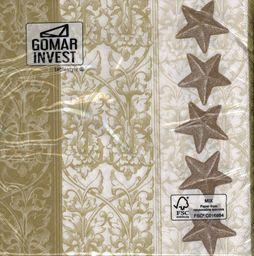GOMAR Serwetki Lunch 33x33 Starnenbordure gold