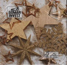 GOMAR Serwetki Lunch 33x33 As good as gold