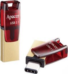 Pendrive Apacer AH180 USB 3.1/3.1 Typ C, 32GB, (AP32GAH180R-1)