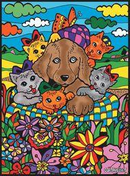 Kolorowanka Welwetowa 47x35 Pies Kotki