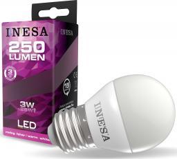 Sylvania Żarówka LED Ball 3W 250lm 3000K E27 160° G3 60639 INESA