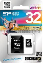 Karta Silicon Power MicroSDHC 32GB Class 10 + adapter (SP032GBSTH010V10-SP)