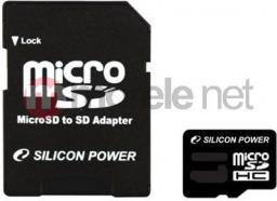Karta Silicon Power MicroSDHC 8 GB Class 4  (SP008GBSTH004V10SP)