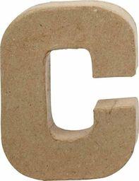 Creativ Company Litera C z papier-mache H: 10 cm