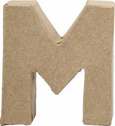 Creativ Company Litera M z papier-mache H: 10 cm