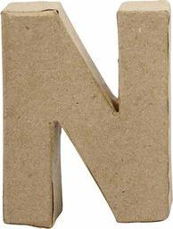 Creativ Company Litera N z papier-mache H: 10 cm