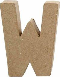 Creativ Company Litera W z papier-mache H: 10 cm