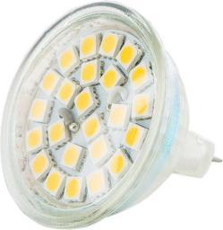 Whitenergy żarówka LED GU5.3(MR16), 24xSMD, 4.5W, 12V, 240Lm, ciepła biała (08861)
