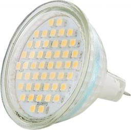 Whitenergy Żarówka LED GU5.3(MR16), 48xSMD, 3W, 12V, 170Lm, ciepła biała (08863)