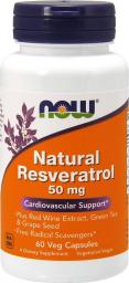 NOW Foods Natural Resveratrol 200mg 60 kapsułek