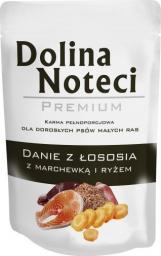 DNP Saszetka Łosoś z marchewką i ryżem dla małych ras 100g