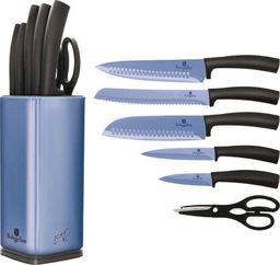 Berlinger Haus Zestaw noży 7 częściowy na stojaku, Metallic Line Royal Blue Edition