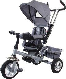 Sun Baby Rowerek trójkołowy z obrotowym siedzeniem - szary melanż