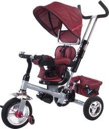Sun Baby Rowerek trójkołowy z obrotowym siedzeniem - bordowy melanż