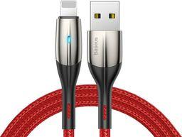 Kabel USB Baseus Horizontal LED Apple Lightning 100cm Red uniwersalny