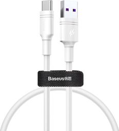 Kabel USB Baseus Kabel USB Baseus Double-ring 5A Type-c USB-C 50cm white uniwersalny