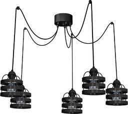 Lampa wisząca Eko-Light Lampa wisząca LARS BLACK 5xE27